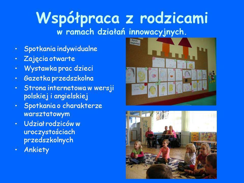 Współpraca z rodzicami w ramach działań innowacyjnych.