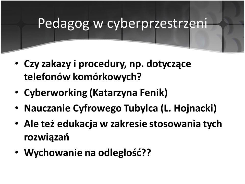 Pedagog w cyberprzestrzeni