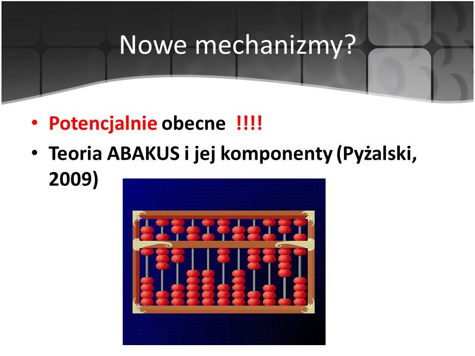 Nowe mechanizmy Potencjalnie obecne !!!!