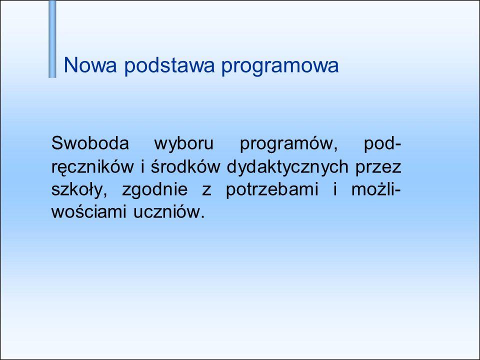 Nowa podstawa programowa