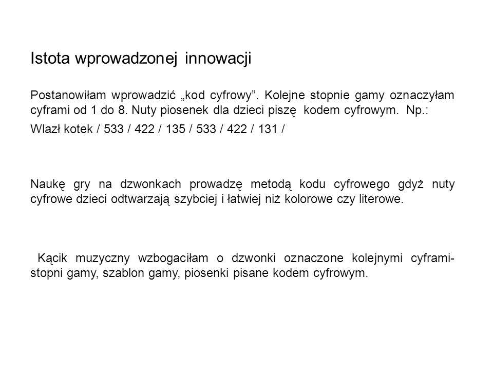 Istota wprowadzonej innowacji