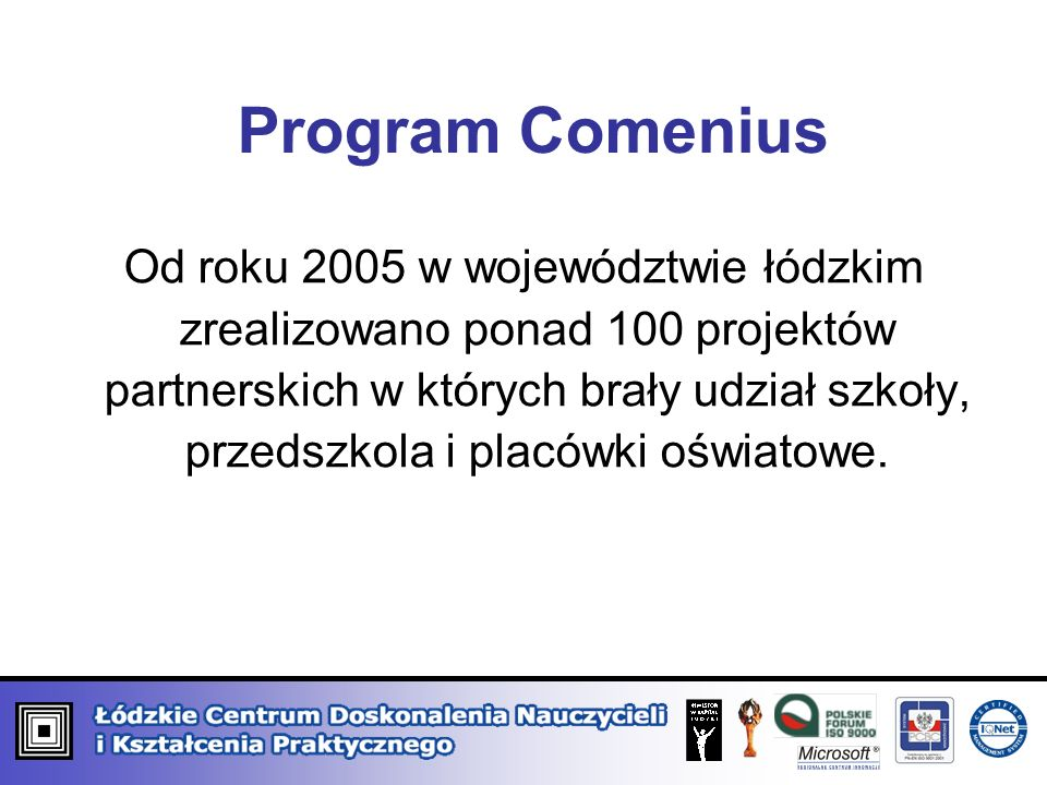 Program Comenius