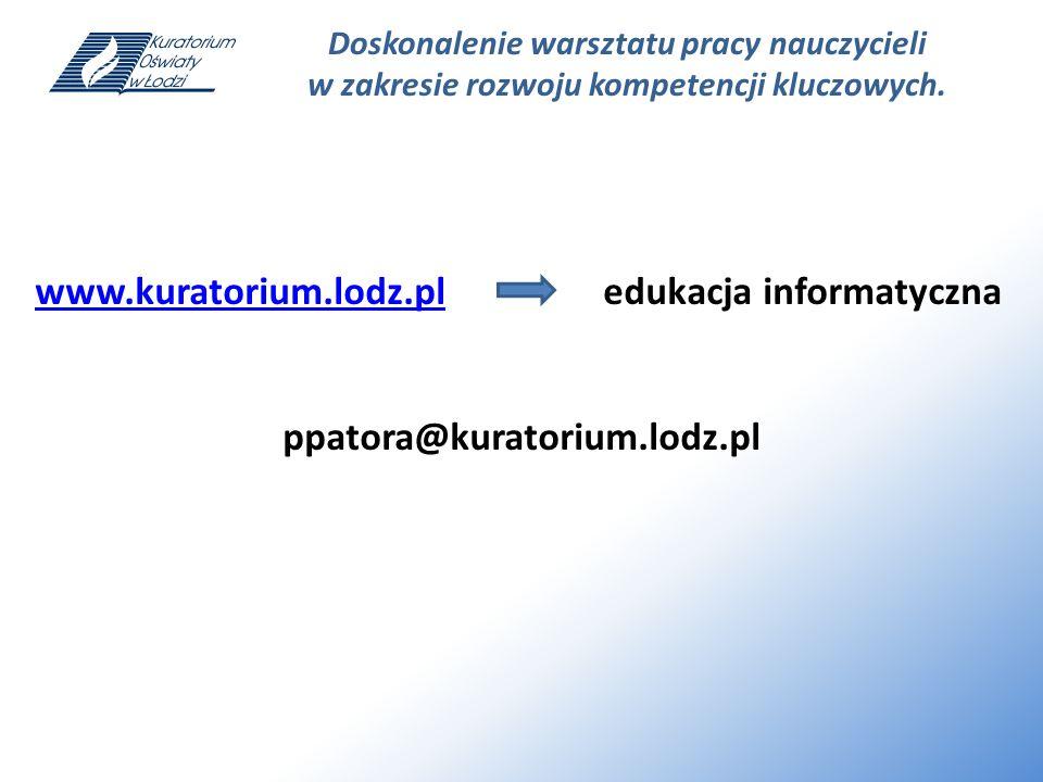 www.kuratorium.lodz.pl edukacja informatyczna