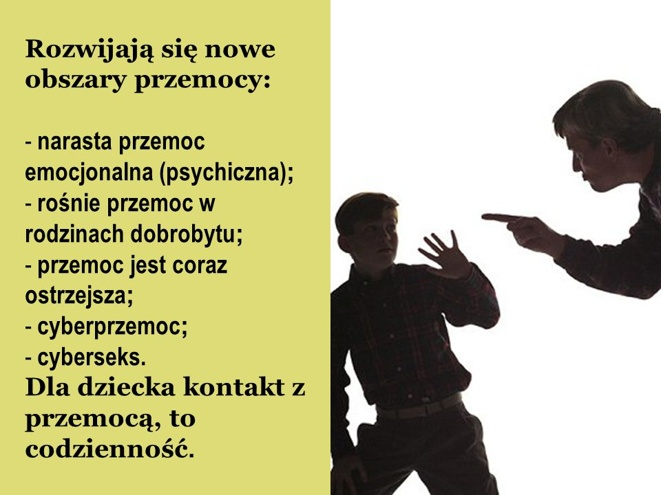 Rozwijają się nowe obszary przemocy: