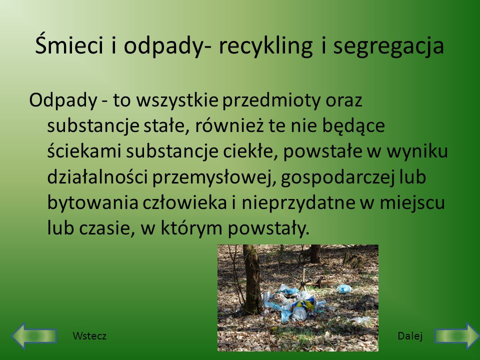 Śmieci i odpady- recykling i segregacja