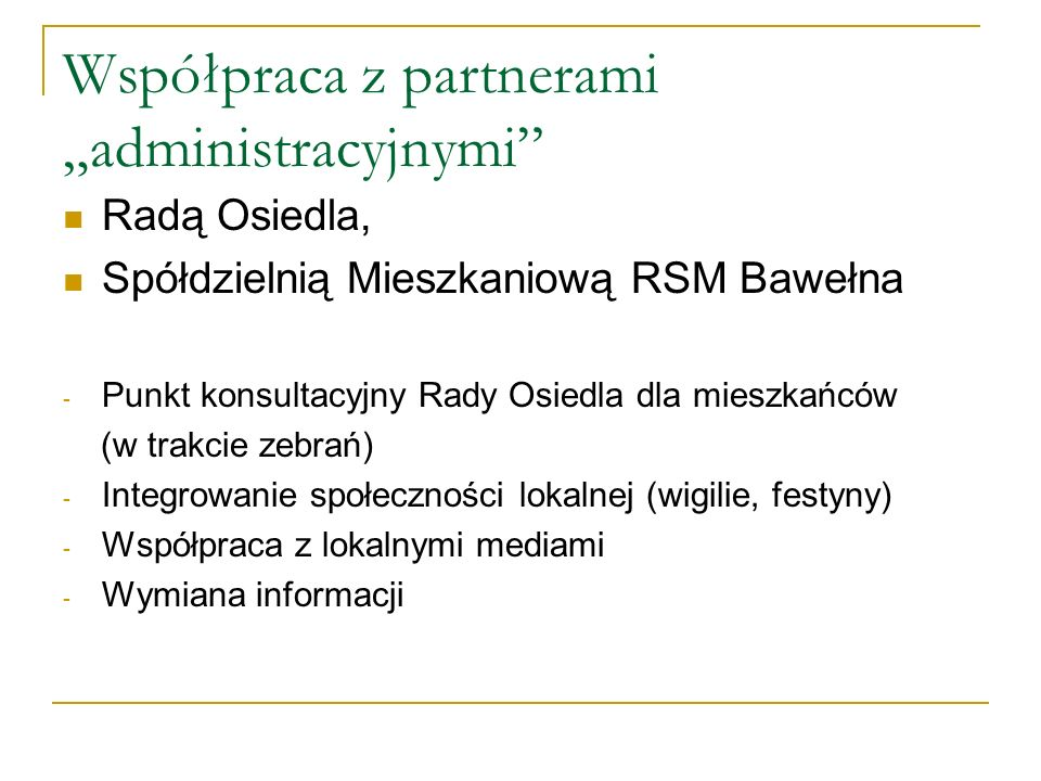 """Współpraca z partnerami """"administracyjnymi"""