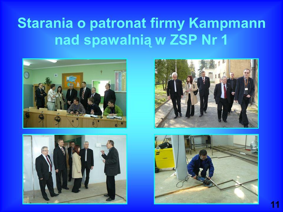 Starania o patronat firmy Kampmann nad spawalnią w ZSP Nr 1
