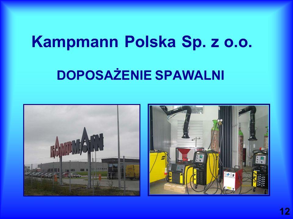 Kampmann Polska Sp. z o.o. DOPOSAŻENIE SPAWALNI