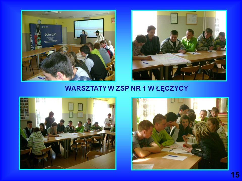 WARSZTATY W ZSP NR 1 W ŁĘCZYCY