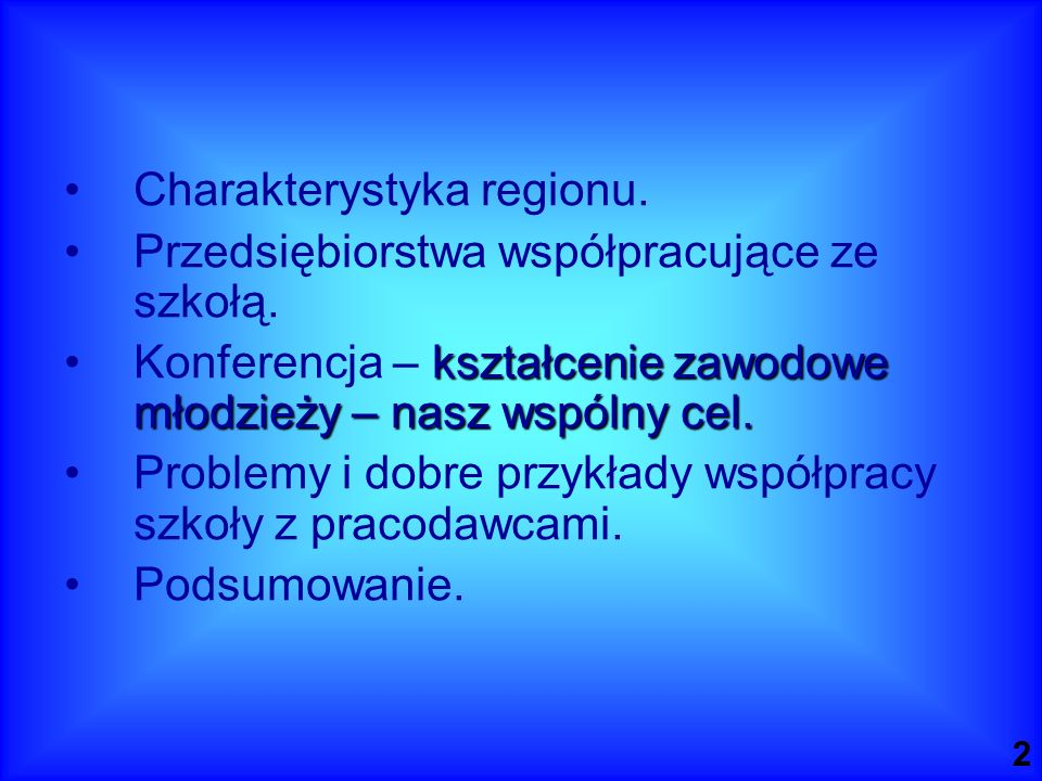 Charakterystyka regionu.