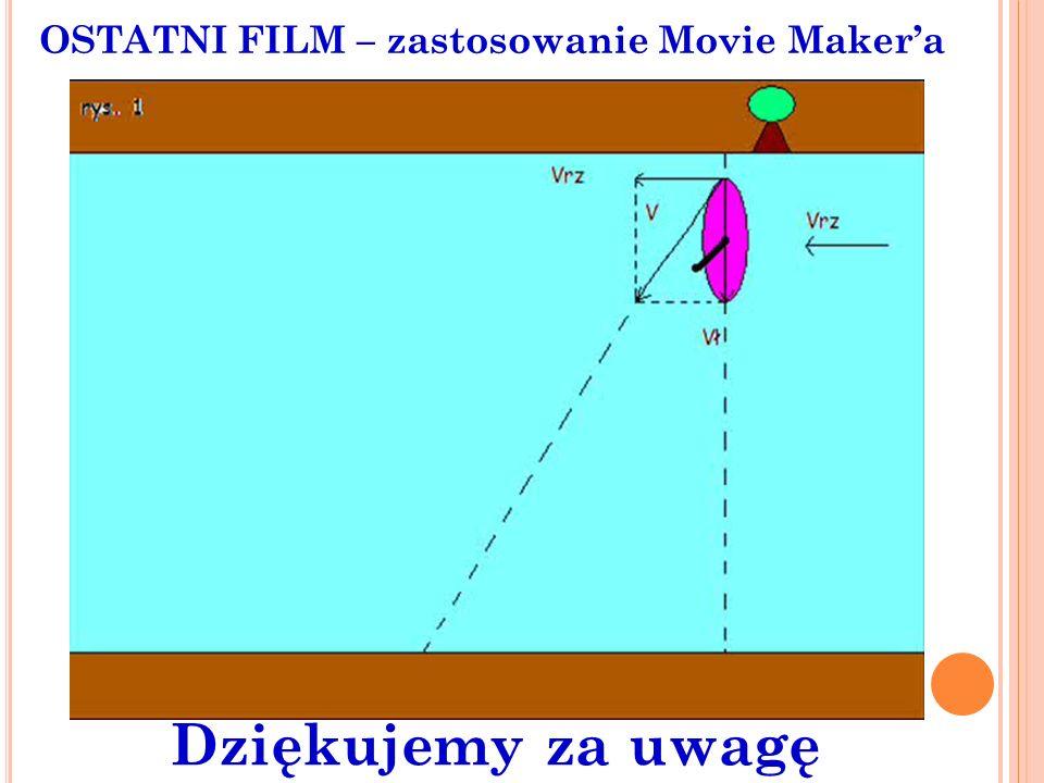 OSTATNI FILM – zastosowanie Movie Maker'a