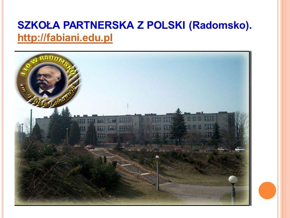 SZKOŁA PARTNERSKA Z POLSKI (Radomsko). http://fabiani.edu.pl