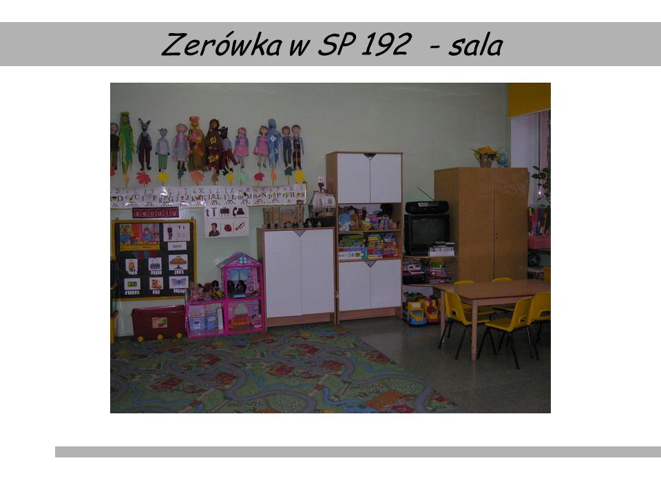 Zerówka w SP 192 - sala