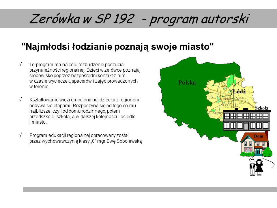 Zerówka w SP program autorski