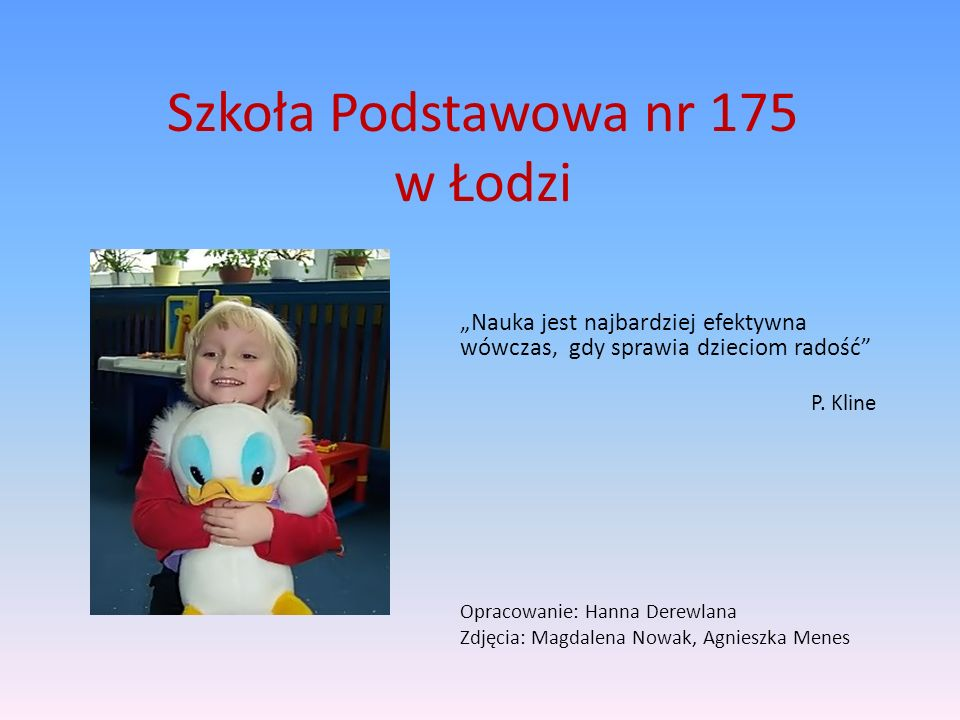 Szkoła Podstawowa nr 175 w Łodzi