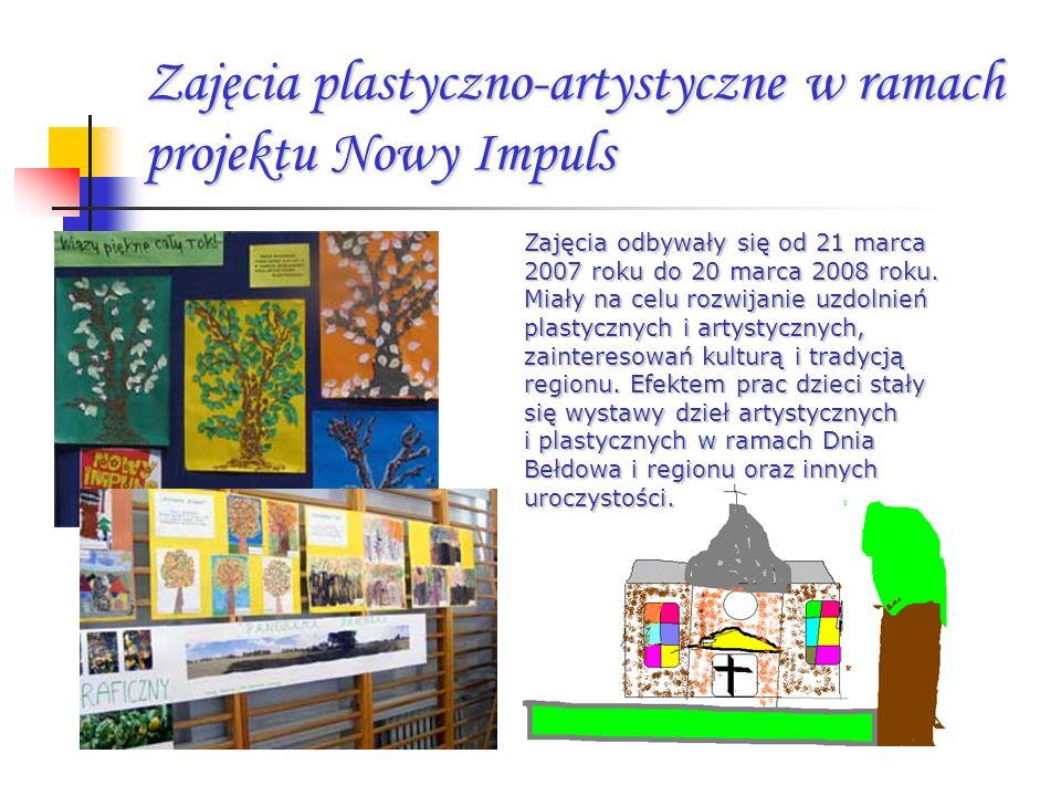 Zajęcia plastyczno-artystyczne w ramach projektu Nowy Impuls