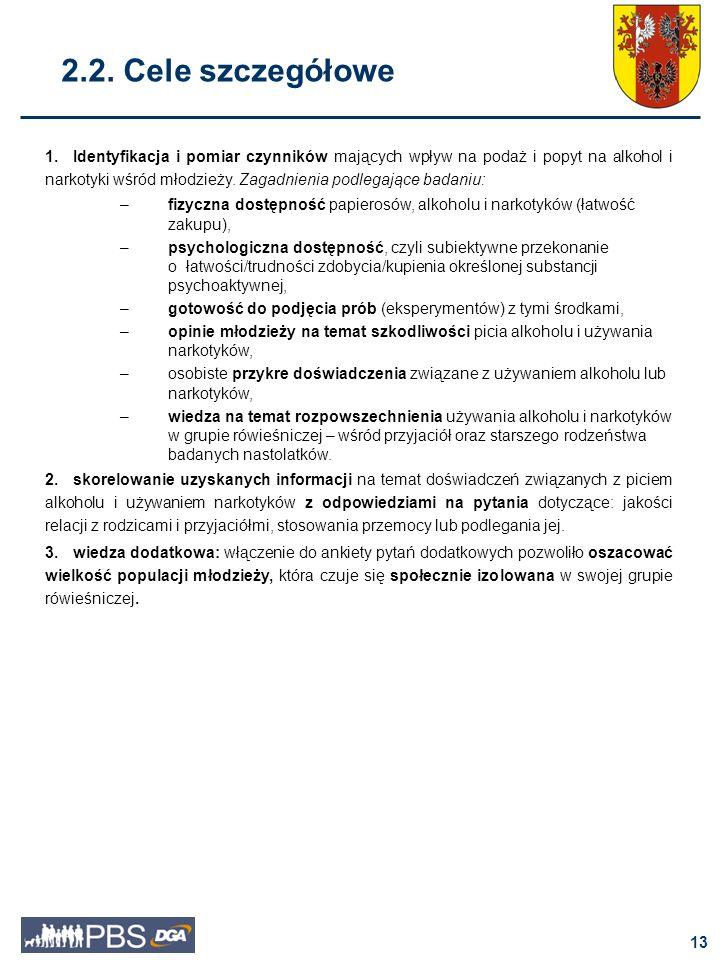 2.2. Cele szczegółowe