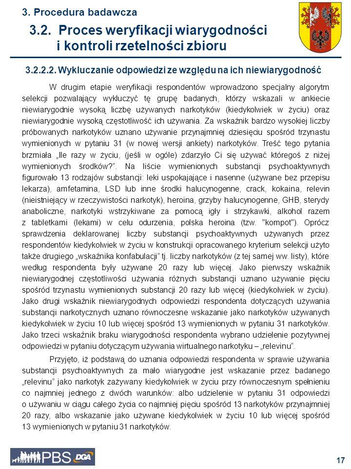 3.2. Proces weryfikacji wiarygodności i kontroli rzetelności zbioru