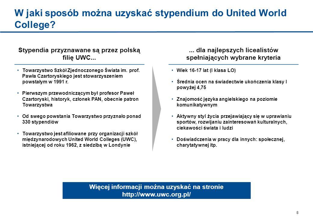 W jaki sposób można uzyskać stypendium do United World College