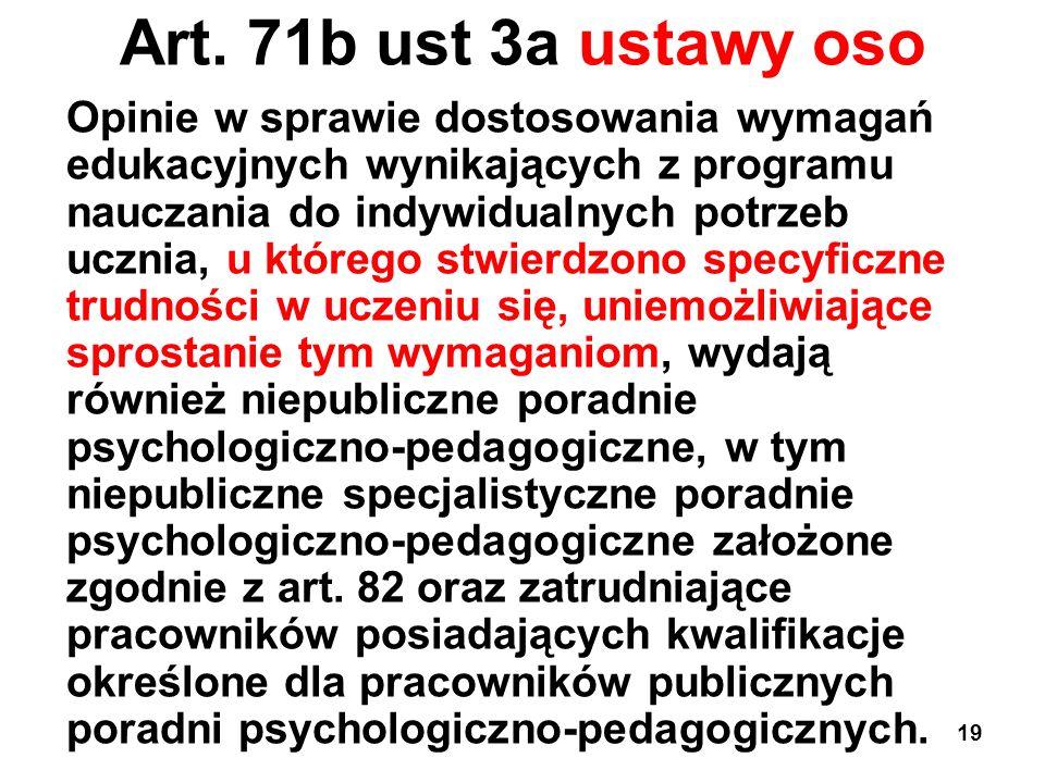 Art. 71b ust 3a ustawy oso