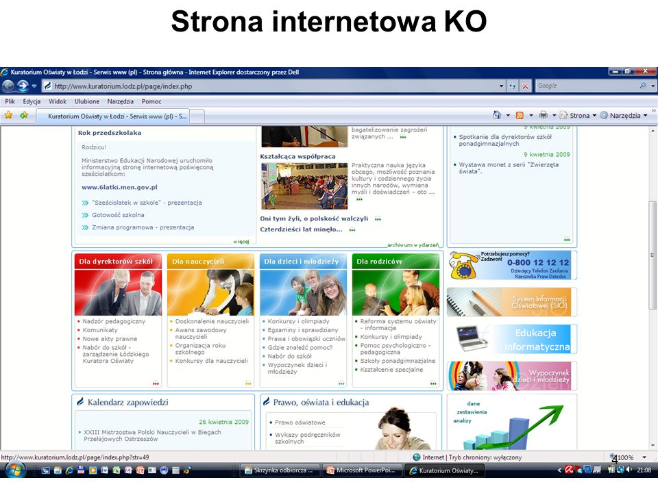 Strona internetowa KO