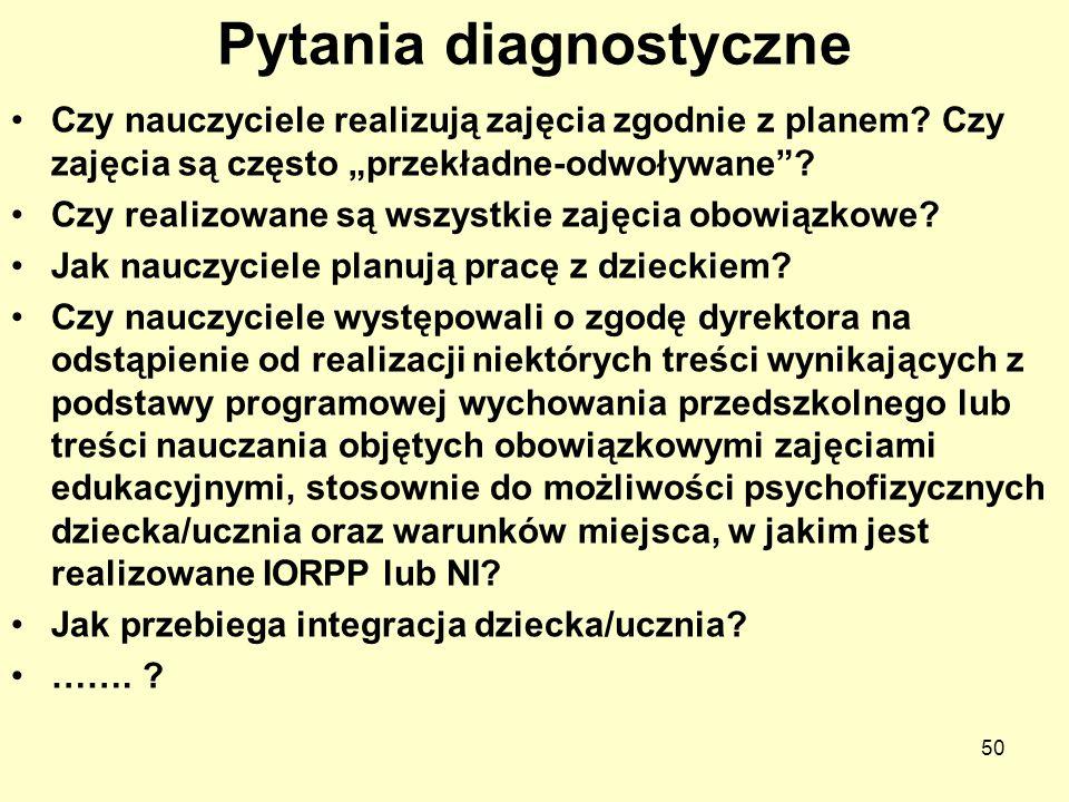 Pytania diagnostyczne
