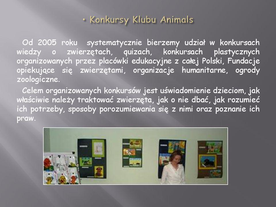 Konkursy Klubu Animals