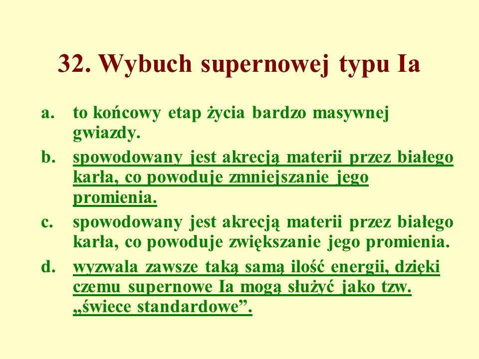 32. Wybuch supernowej typu Ia