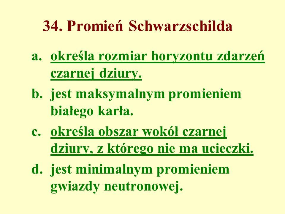 34. Promień Schwarzschilda