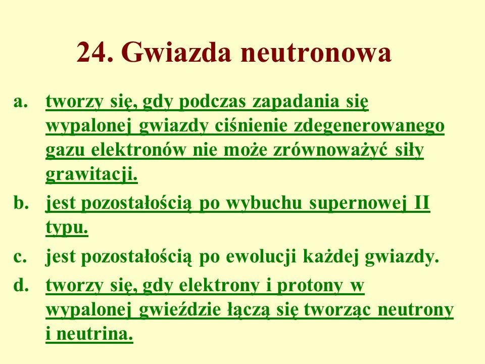 24. Gwiazda neutronowa