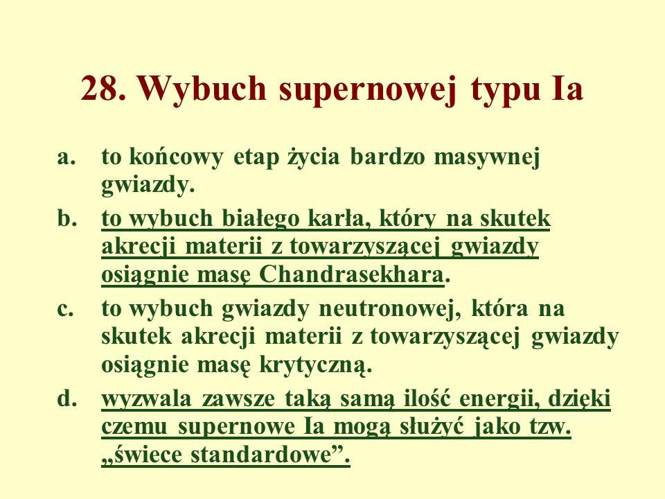 28. Wybuch supernowej typu Ia