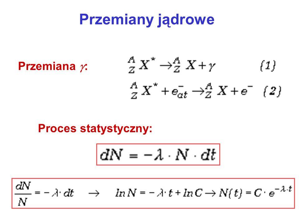 Przemiany jądrowe Przemiana : Proces statystyczny: