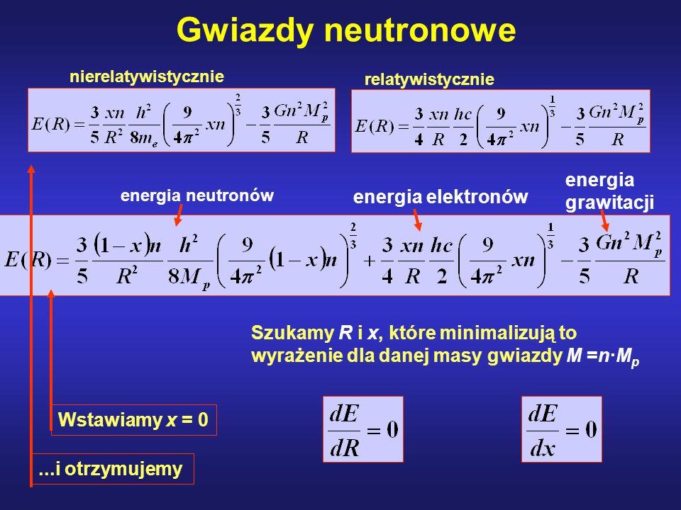Gwiazdy neutronowe energia grawitacji energia elektronów