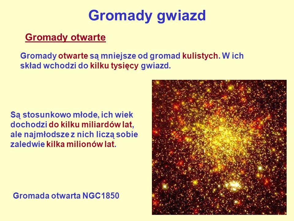 Gromady gwiazd Gromady otwarte