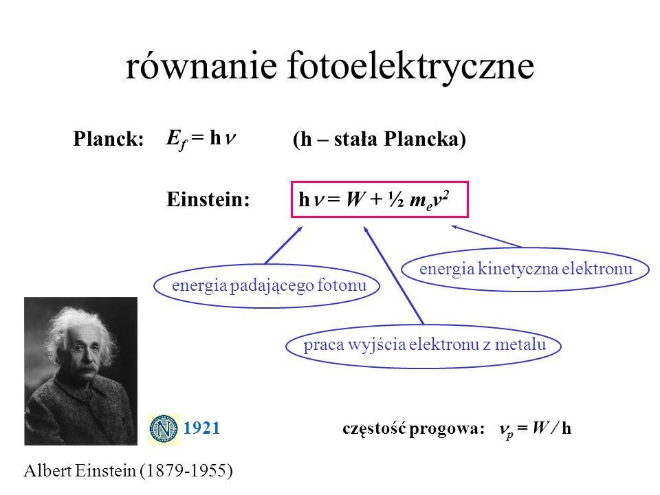 równanie fotoelektryczne
