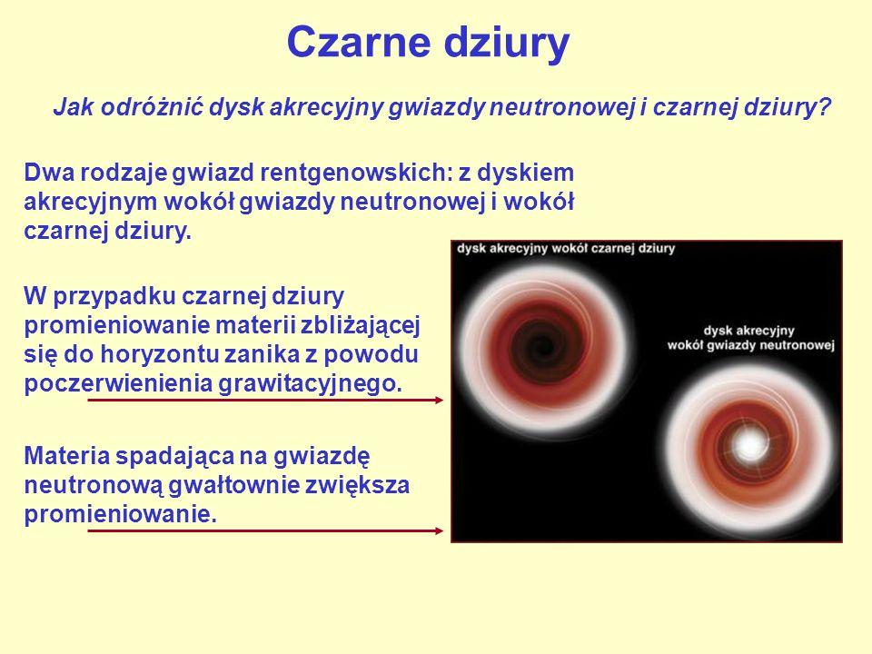 Czarne dziury Jak odróżnić dysk akrecyjny gwiazdy neutronowej i czarnej dziury