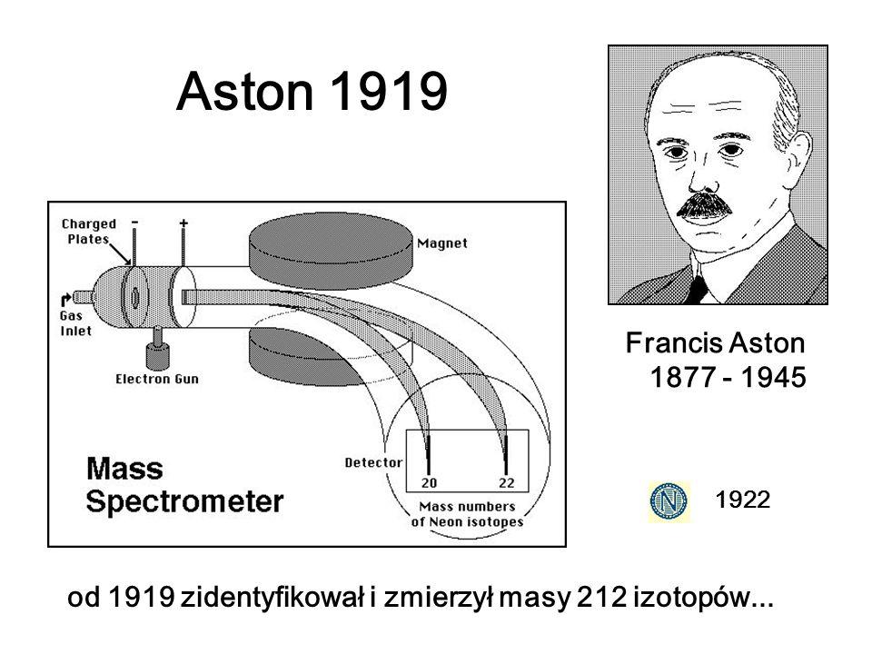 Aston 1919Francis Aston 1877 - 1945.1922.