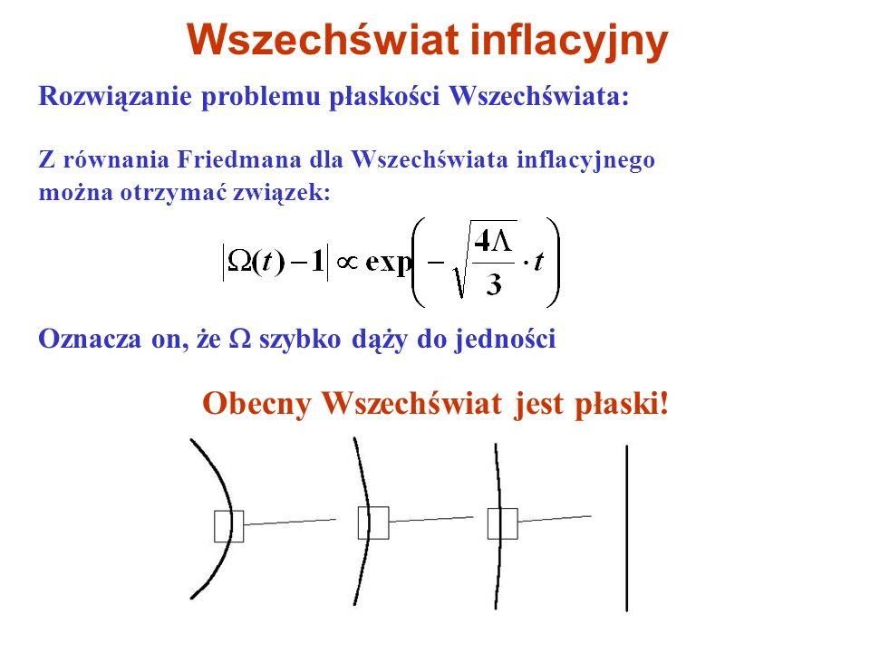 Wszechświat inflacyjny Obecny Wszechświat jest płaski!