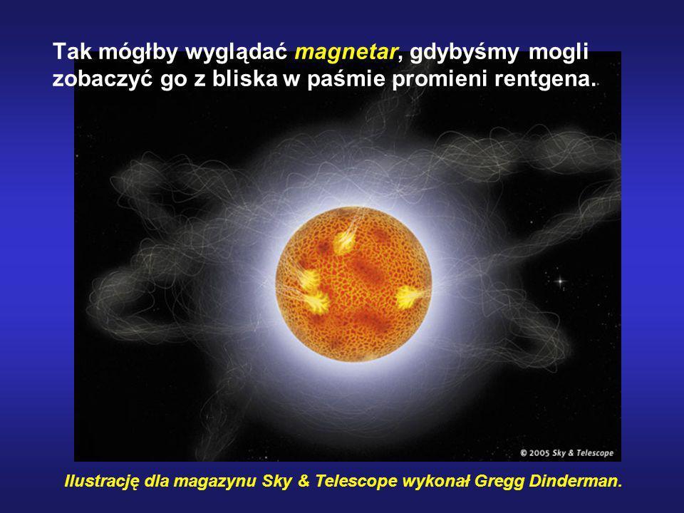 Tak mógłby wyglądać magnetar, gdybyśmy mogli zobaczyć go z bliska w paśmie promieni rentgena.