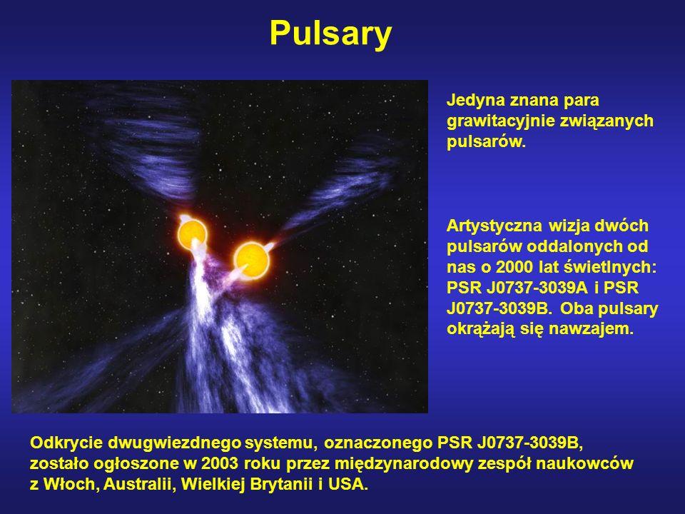 Pulsary Jedyna znana para grawitacyjnie związanych pulsarów.