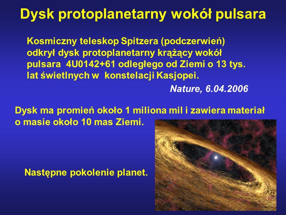 Dysk protoplanetarny wokół pulsara