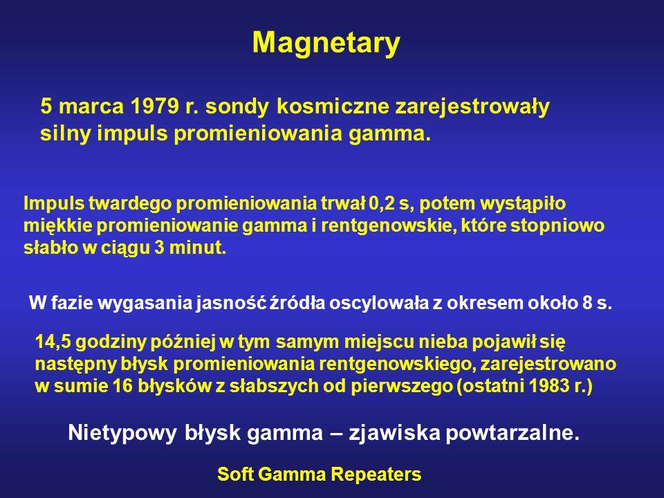Magnetary 5 marca 1979 r. sondy kosmiczne zarejestrowały silny impuls promieniowania gamma.