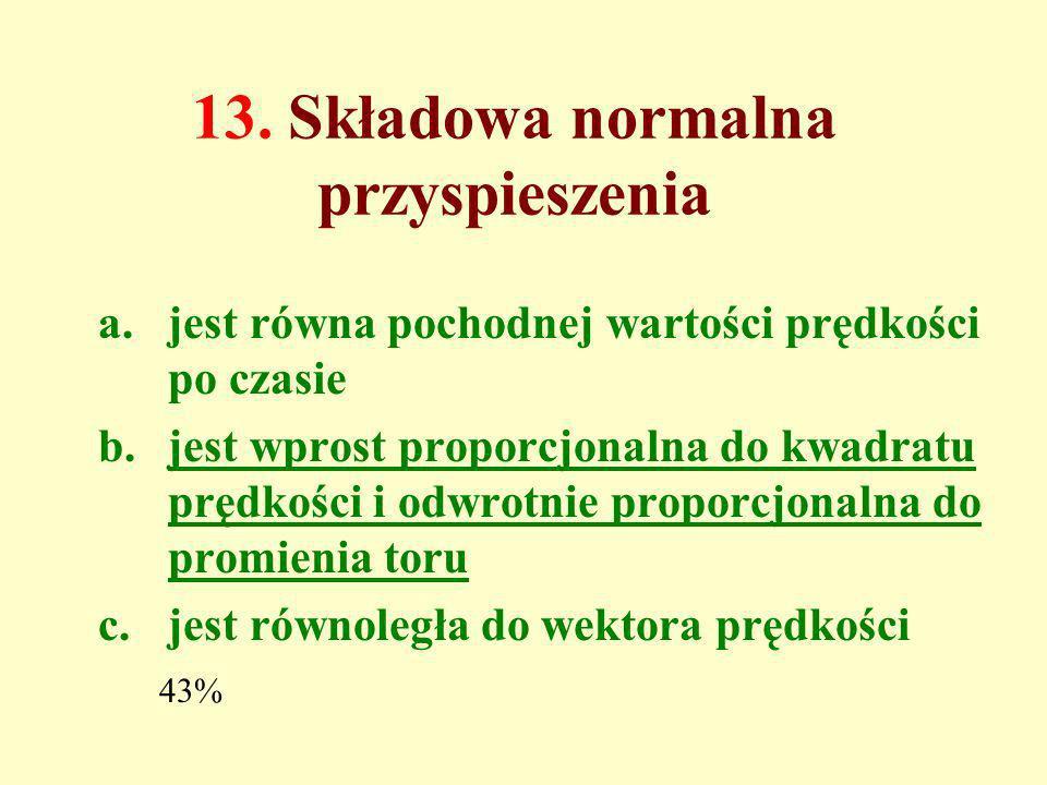 13. Składowa normalna przyspieszenia