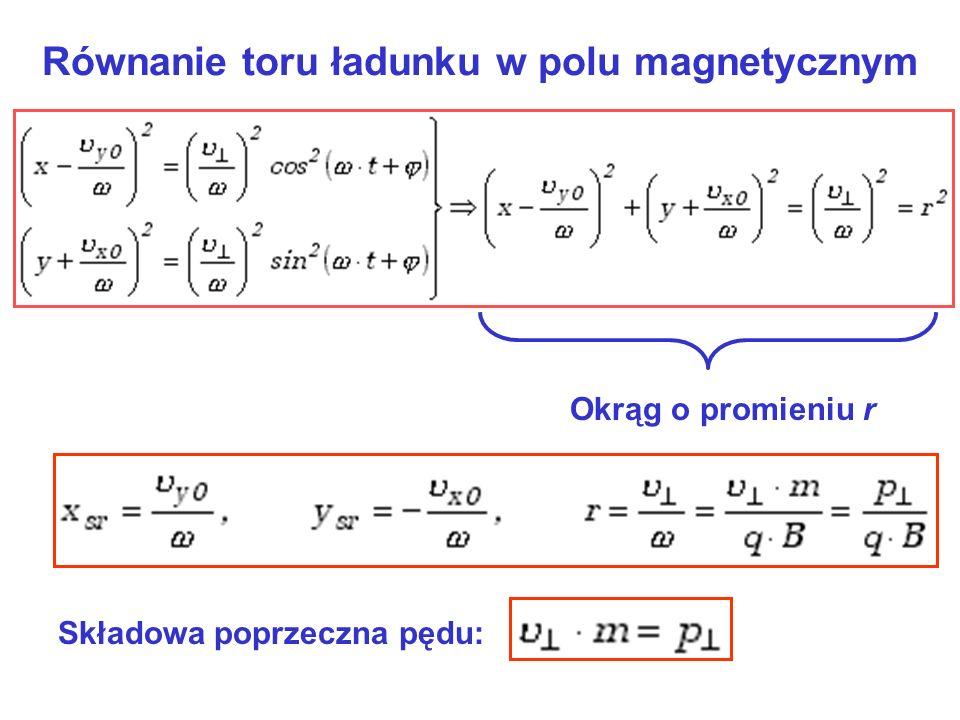 Równanie toru ładunku w polu magnetycznym