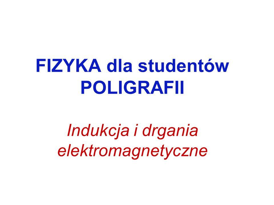 FIZYKA dla studentów POLIGRAFII Indukcja i drgania elektromagnetyczne