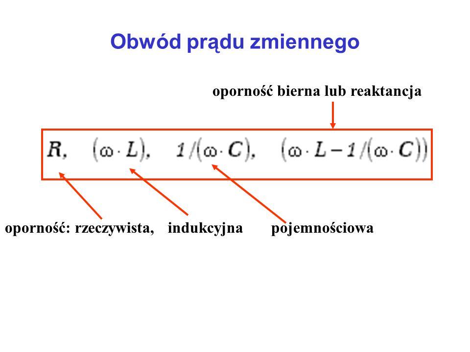 Obwód prądu zmiennego oporność bierna lub reaktancja