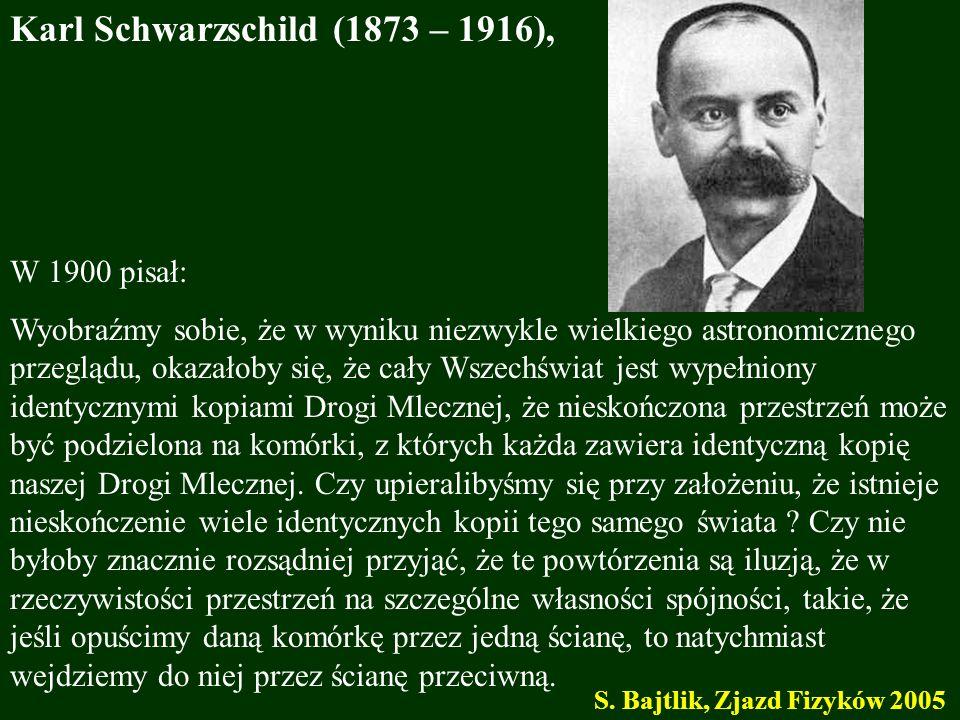 Karl Schwarzschild (1873 – 1916),
