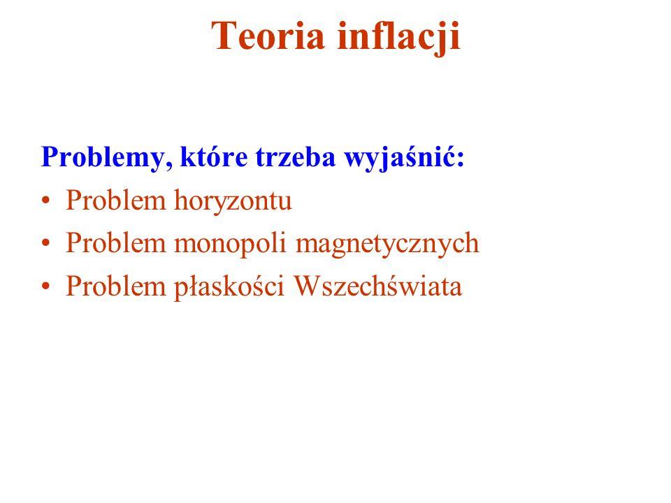 Teoria inflacji Problemy, które trzeba wyjaśnić: Problem horyzontu