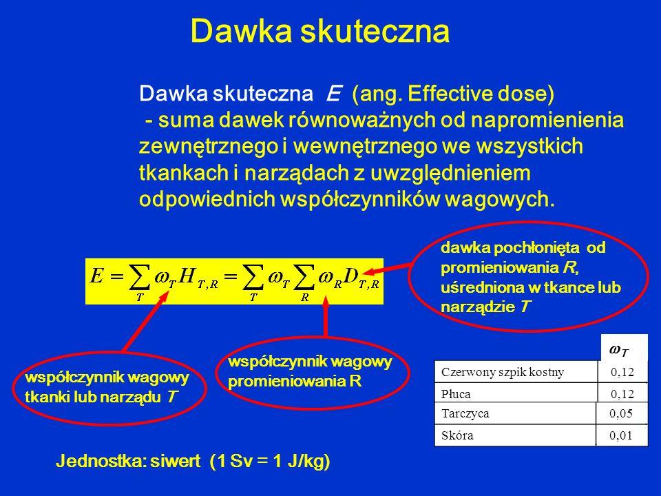 Dawka skuteczna Dawka skuteczna E (ang. Effective dose)
