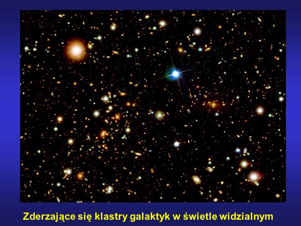 Zderzające się klastry galaktyk w świetle widzialnym